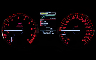 Subaru WRX STI LCD display